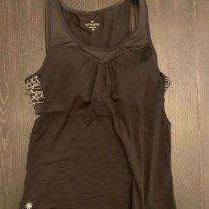 Athleta Black Built In Sports Bra Tank